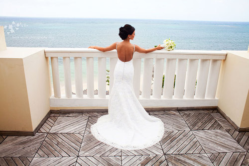 beautiful, bride, paradise, sea, wedding, wedding dress