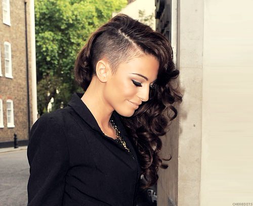 beautiful, brown hair, cher lloyd, curls, eyebrow, fashion, girl, hair, lashes, lips, necklace, sexy, undercut