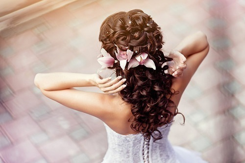 beautiful, curls, dress, fashion, flowers
