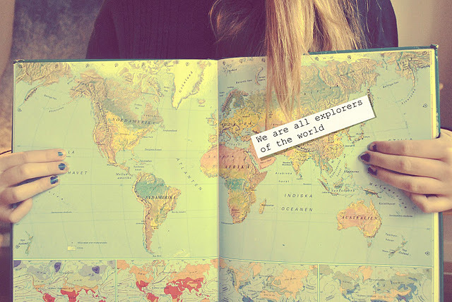 beautiful, explorer, girl, map, meaning