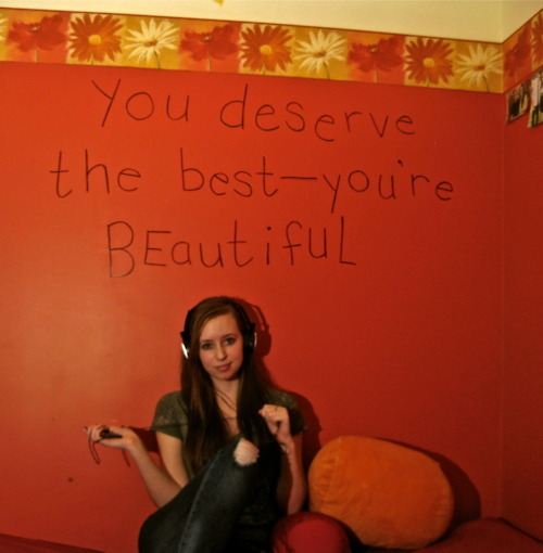 beautiful, girl, headphones, how to love, ipod