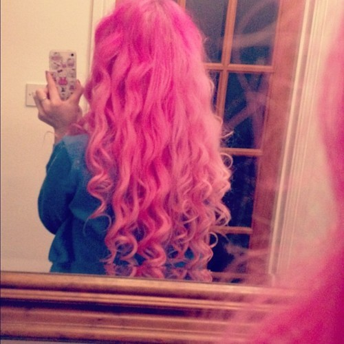 beauttiful, cute, girl, hair, pink