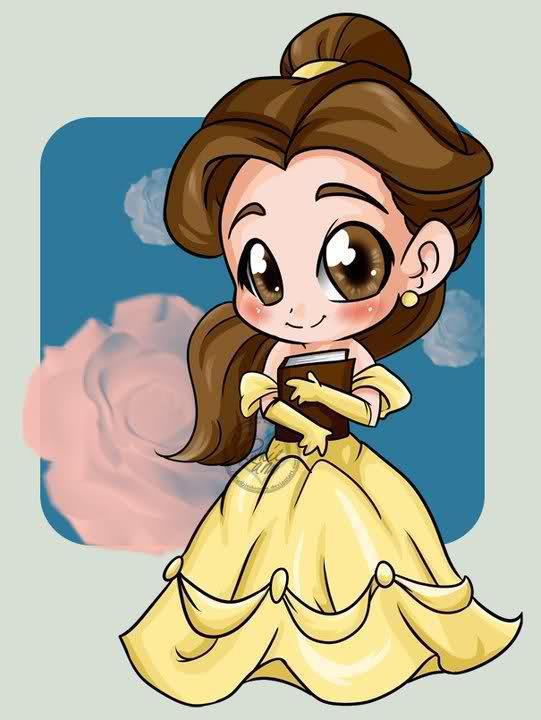 beauty and the beast, cute, disney, drawings, girl