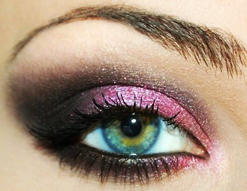 beauty, eyeliner, eyes, girl, lashes, makeup, pink
