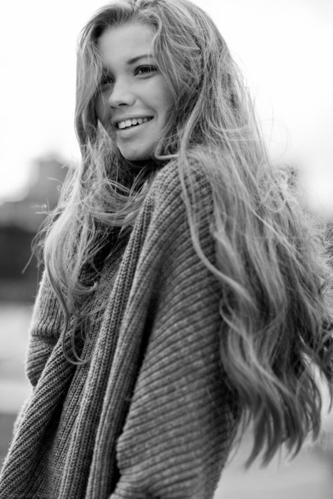beauty, girl, hair, long hair, photography, smile, sweater
