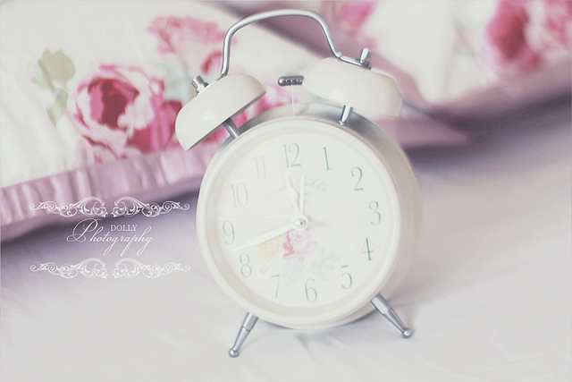 bed room, clock, cute, dream, fashion