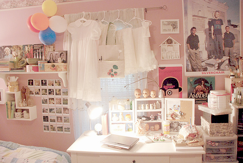 bedroom, decor, girly, pink, room