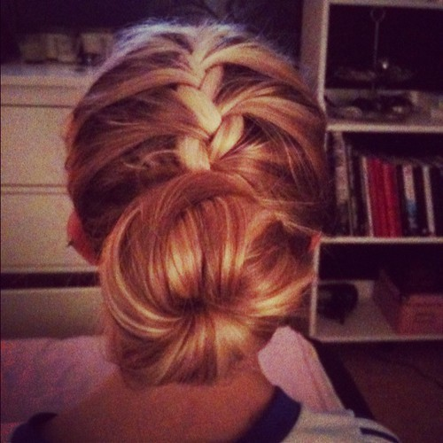 behind, blonde, braid, bun, cabelos, cool, girl, hair, hairstyle, photography