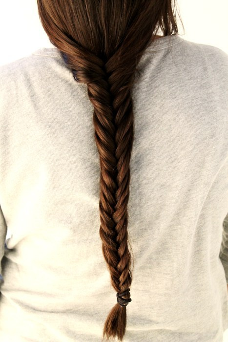 behind, braid, brunette, cool, fashion