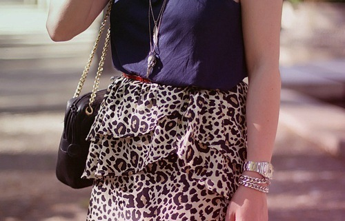 beige, blue, braclet, brown, cheetah, cute, fashion, necklace, pretty, purse, skirt, vintage, watch