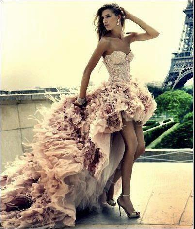 beige, dress, eiffel tower, galocha, high heels, paris, rose