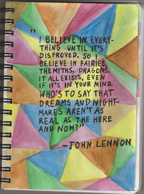 believe, dreams, john lennon, quote, text