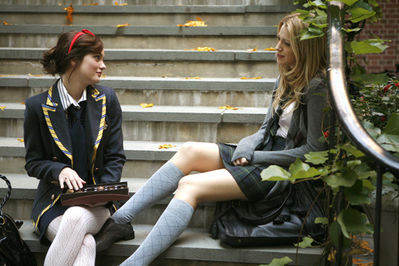best friends, blair, gossip girl, school, serena
