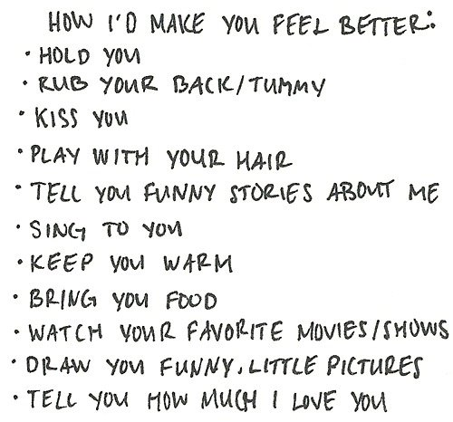 better, feel, food, funny, hair, kiss, list, love, movies, stories, tummy, warm, you