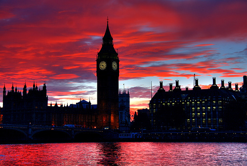big ben, bridge, city, colours, london, love, nice, sunset