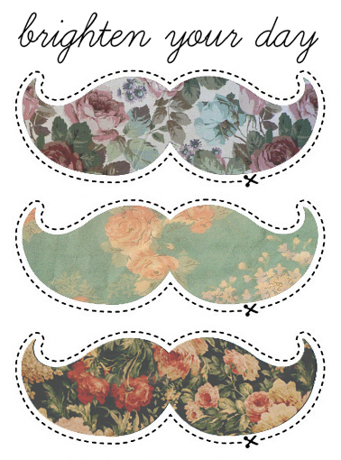 bigodes :3, floral, mostacho, moustache, perfect