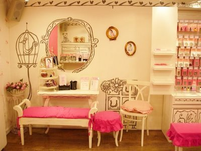 bird cage, etude house, girly, pink, vanity