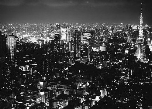city lights black and white - photo #26