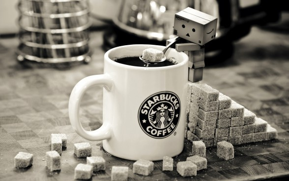 black and white, cofee, danboard, starbucks, sugar