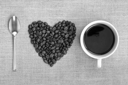 black and white, coffee, i heart coffee, i love coffee