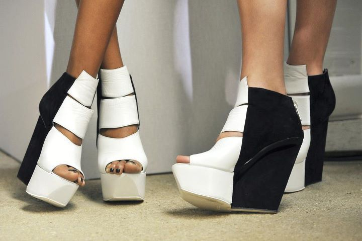 black, black and white, fashion, shoes, white