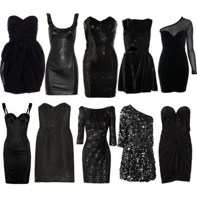 black, black dress, chic, clothes, dress