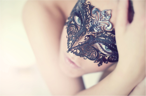 black, blue eyes, eyes, girl, lovely, mask, nice, soft