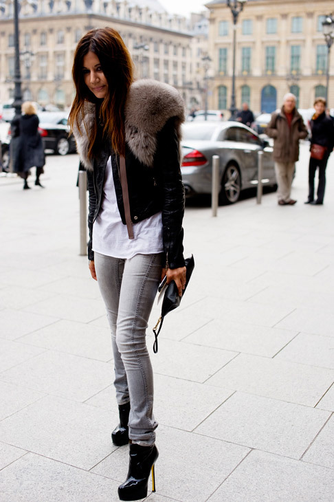 black, city, fashion, fur, girl