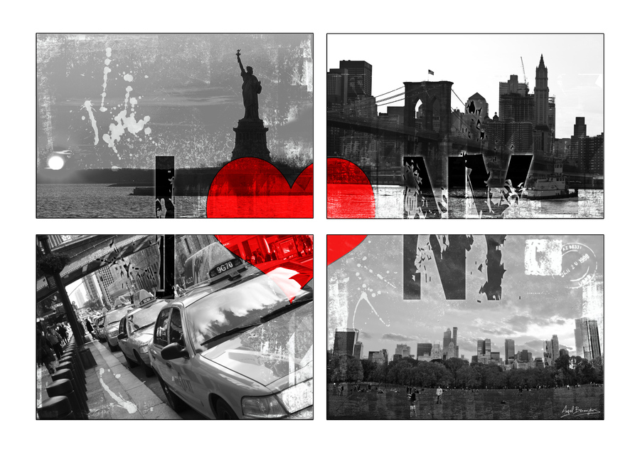 black, love, new, nyc, red