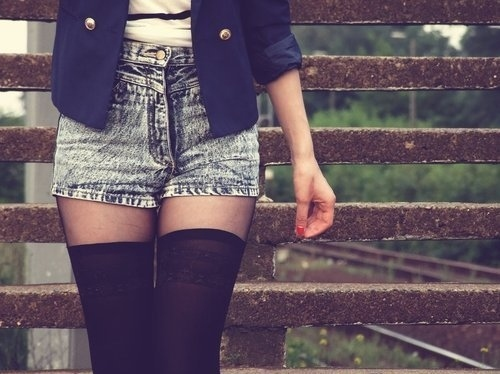 blazer, denim, fashion, girl, shorts
