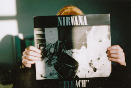 bleach, blonde, cool, disc, girl, love, music, nirvana