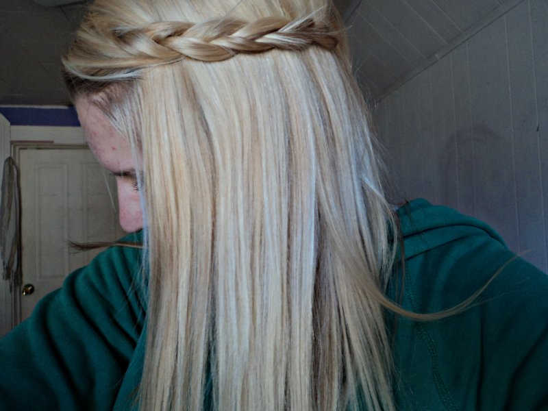 blonde, braid, cute, fashion, girl