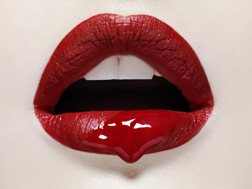 blood, girl, hot lips, lips, lipstick