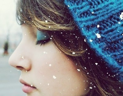 blue, cap, eyeshadow, girl, snow
