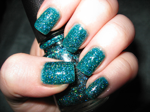 blue nail polish, fashion, glitter, nail polish