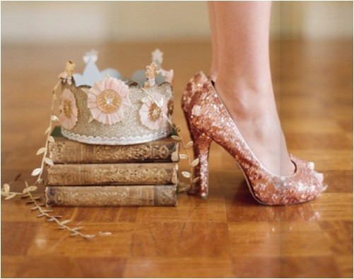 books, crown, glitter, princess, shoes, vintage