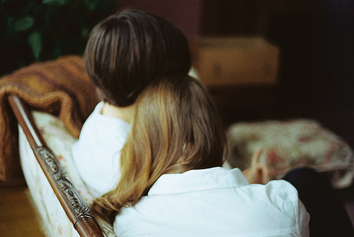 boy, brunette, cute, girl, hair, love, lovers, photo, photography, together, vintage, white, young