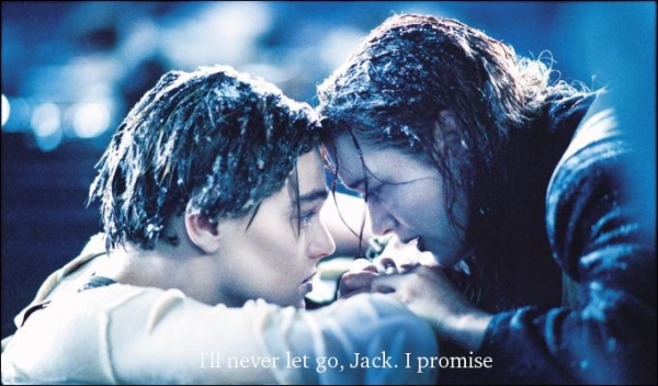 boy, cold, couple, girl, ice, kate winslet, leonardo dicaprio, love, never, promise, titanic
