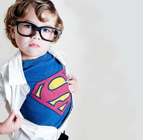 boy, cute, glasses, kid, superman