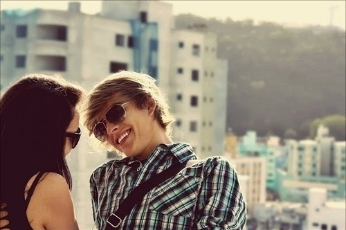boy, girl, glasses, hair, love