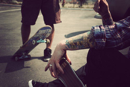 boys, skate, tattoo, tattooed