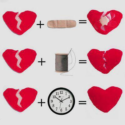 broken heart, heart, time