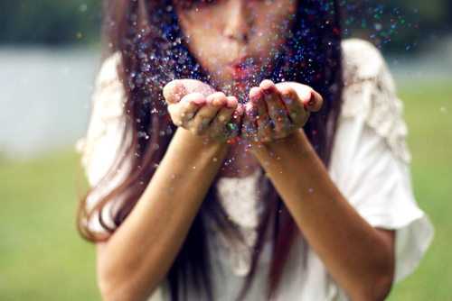 brown hair, cute, girl, glitter, photography