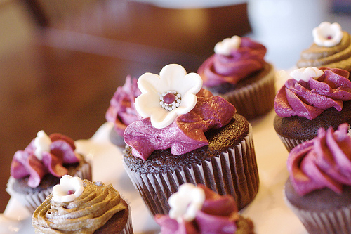 brownie-chocolate-cupcake-cute-flower-Fa