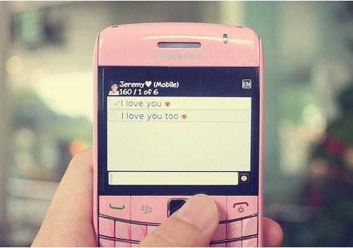 callular, i love you, i love you too, message, pink