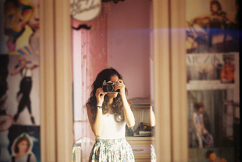 camera, cute, dress, foto, garota, girl, lomo, photo, posters