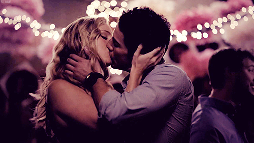 candice accola, caroline forbes, couple, forwood, kiss