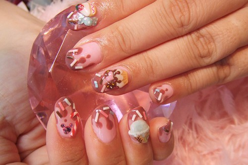 candy, cupcake, donuts, nail, nails