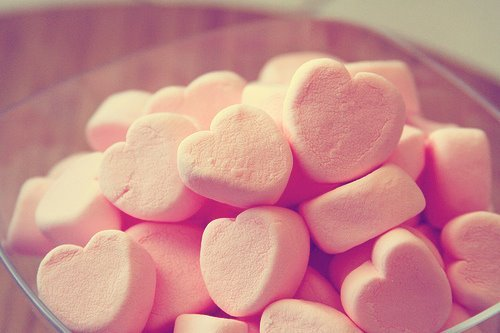 candy, hearts, pink