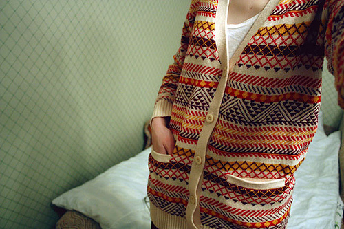 cardigan, colorful, fashion, pretty